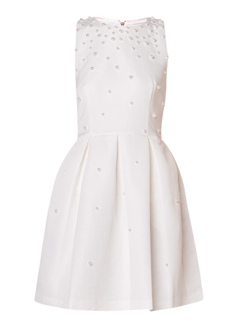 Ted Baker Milliea A-lijn jurk met parel applicatie gebroken wit