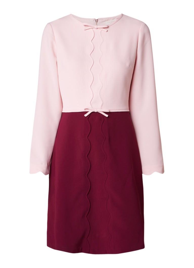 Ted Baker Preenna A-lijn jurk met geschulpte details roze