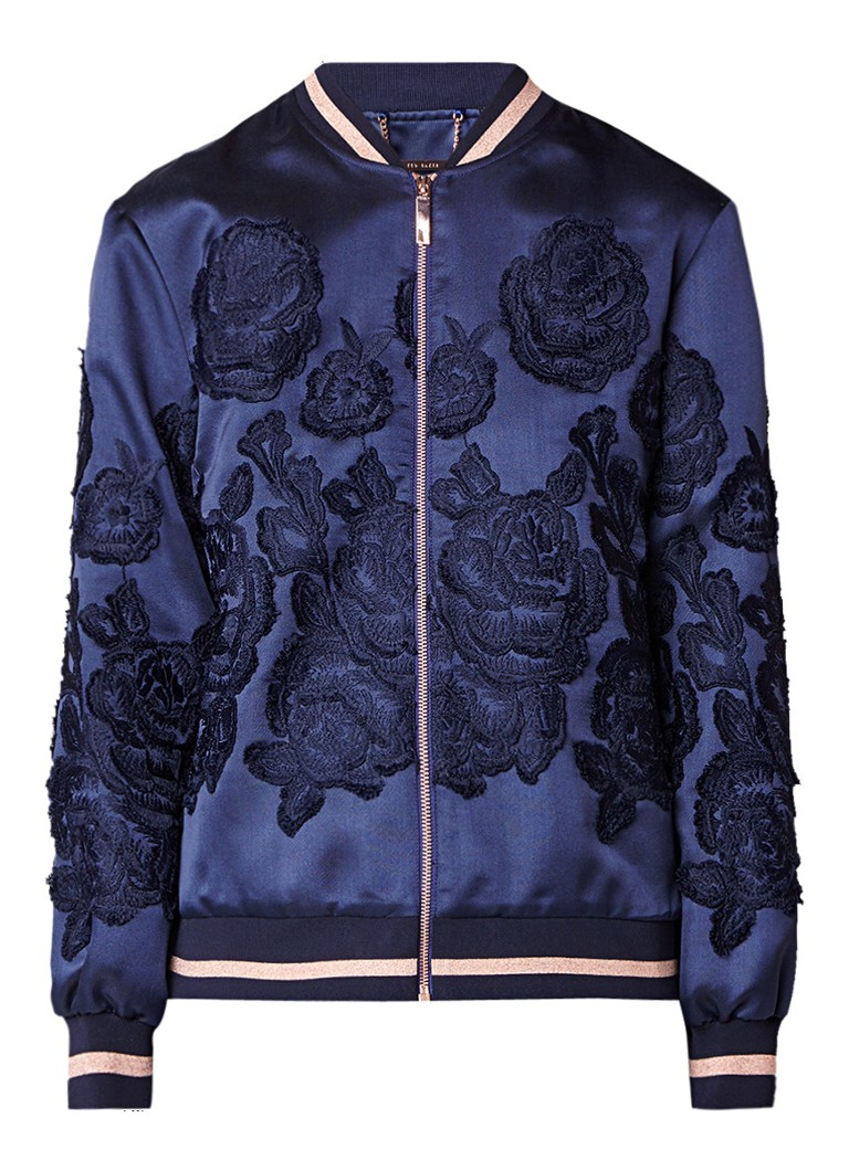 Ted Baker Mitsy bomber met jaqcuard bloemendessin