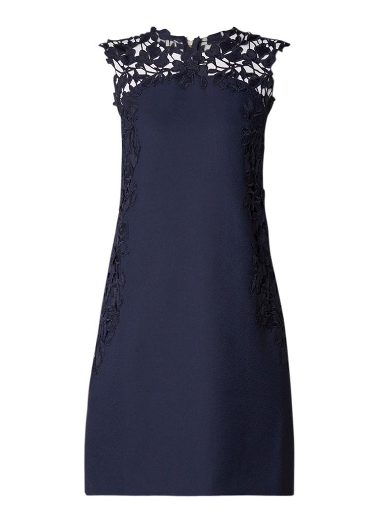 Ted Baker Andreti midi-jurk met detail van gebloemd kant donkerblauw