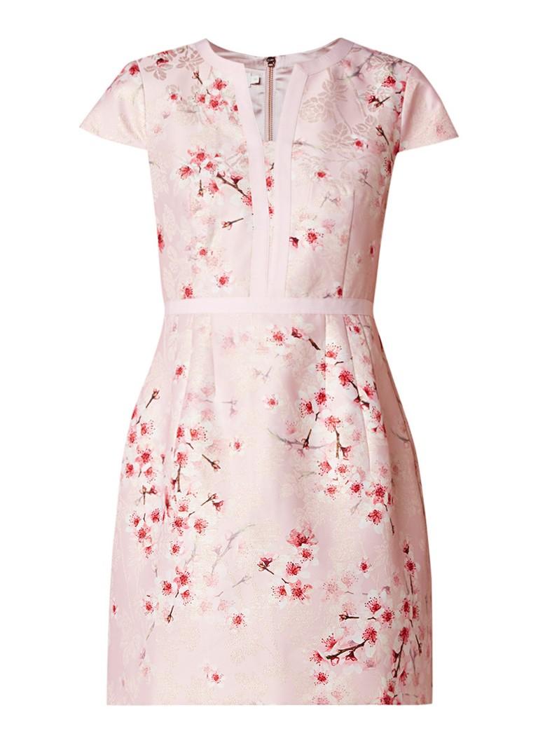 Ted Baker Juules A-lijn jurk met bloemendessin lichtroze