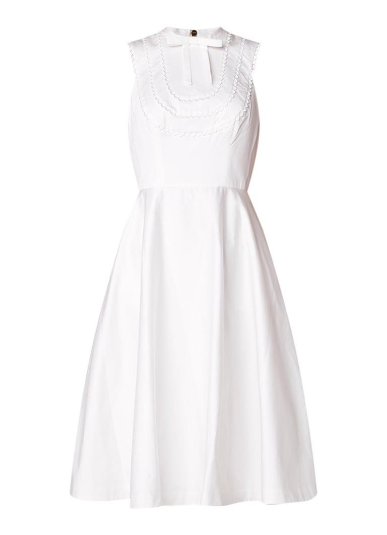 Ted Baker Briiola A-lijn jurk met strikdetail en steekzak lime