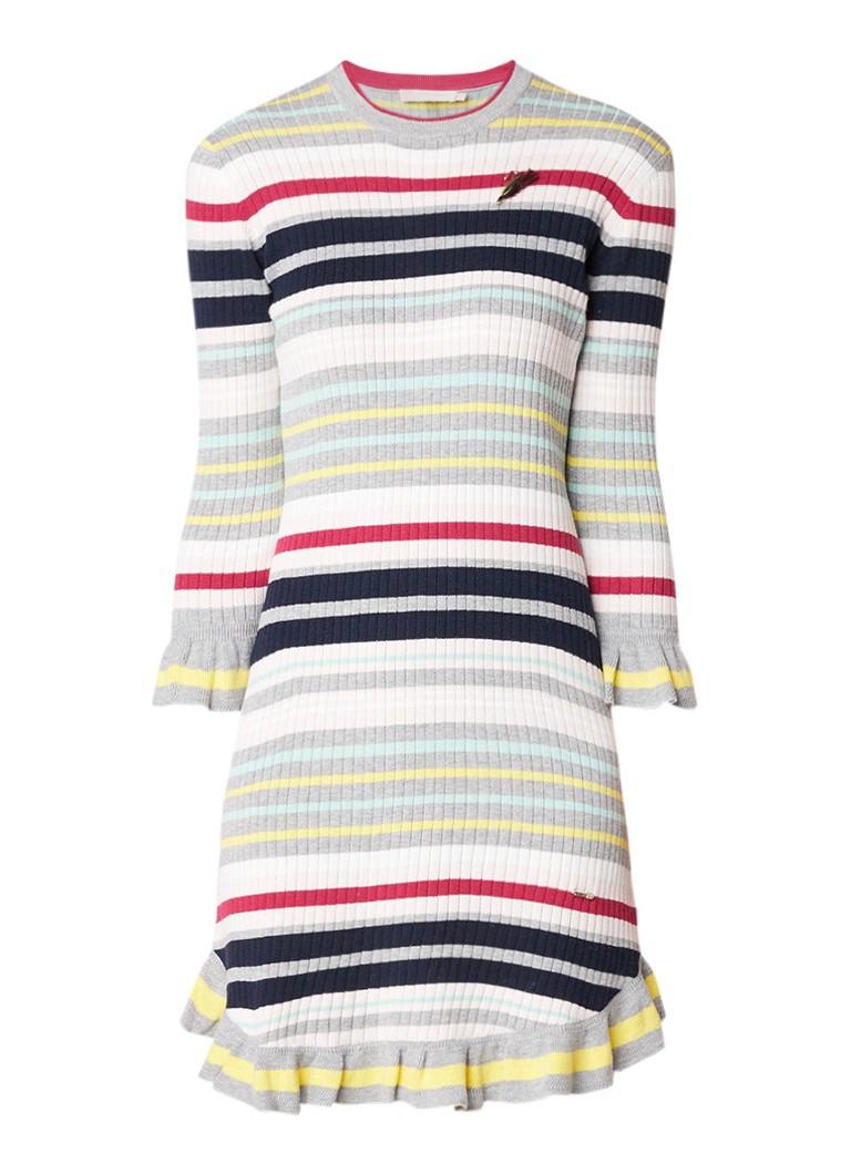 Ted Baker Rette ribgebreide jurk met streepdessin multicolor