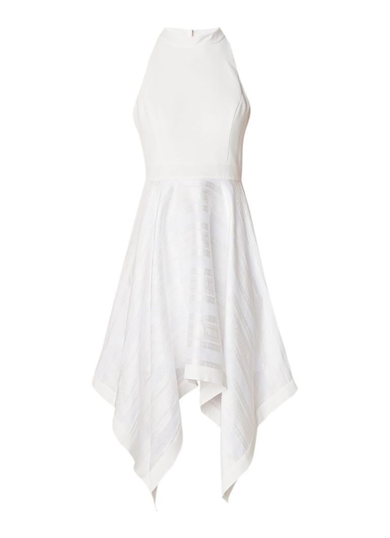 Ted Baker Ayesaa mouwloze A-lijn jurk met contraststof wit