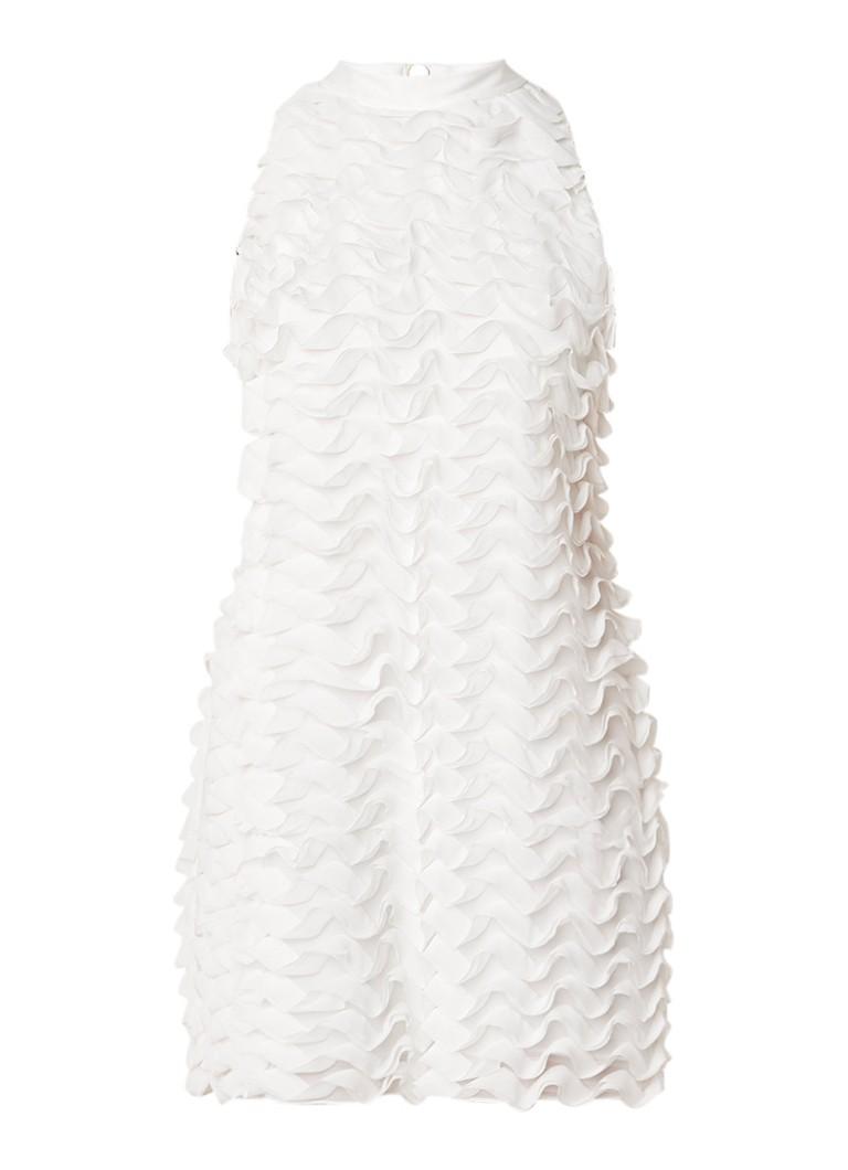 Ted Baker Serilda mouwloze mini-jurk met ruches wit