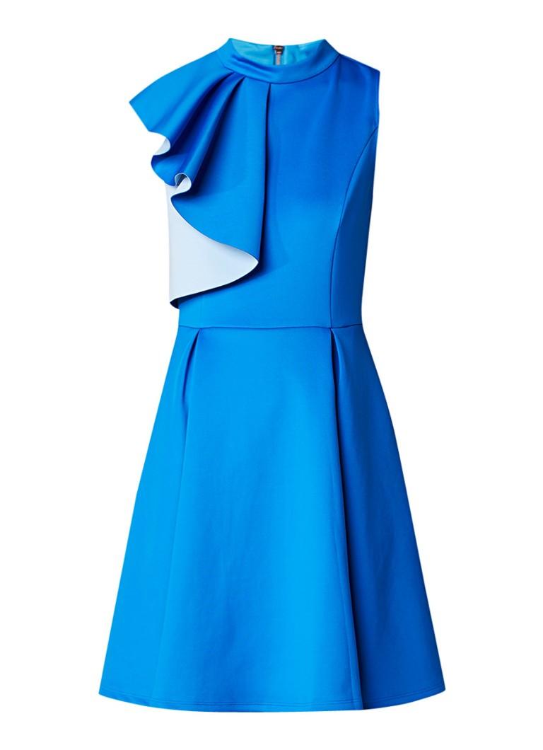 Ted Baker Ayami A-lijn jurk met volant royalblauw
