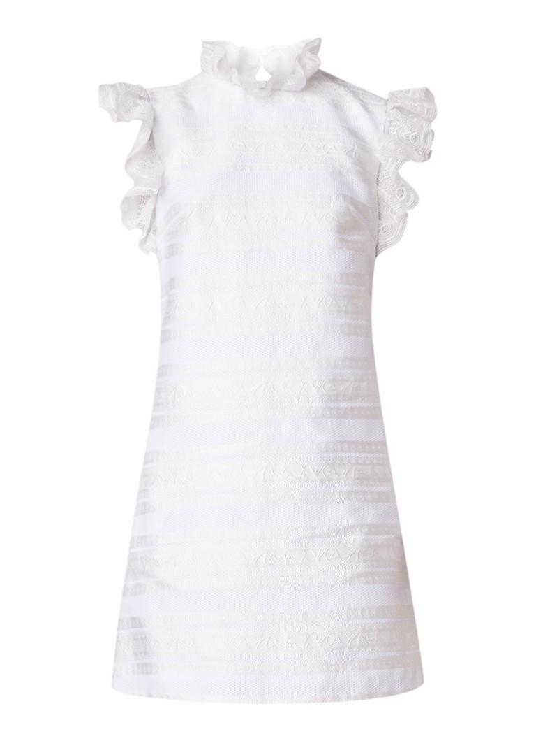 Ted Baker Yandad midi-jurk van kant met volants gebroken wit