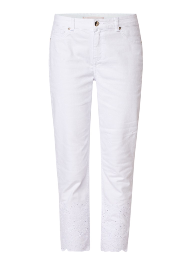 Ted Baker Marriaa high rise 7 8 skinny jeans met kanten boord