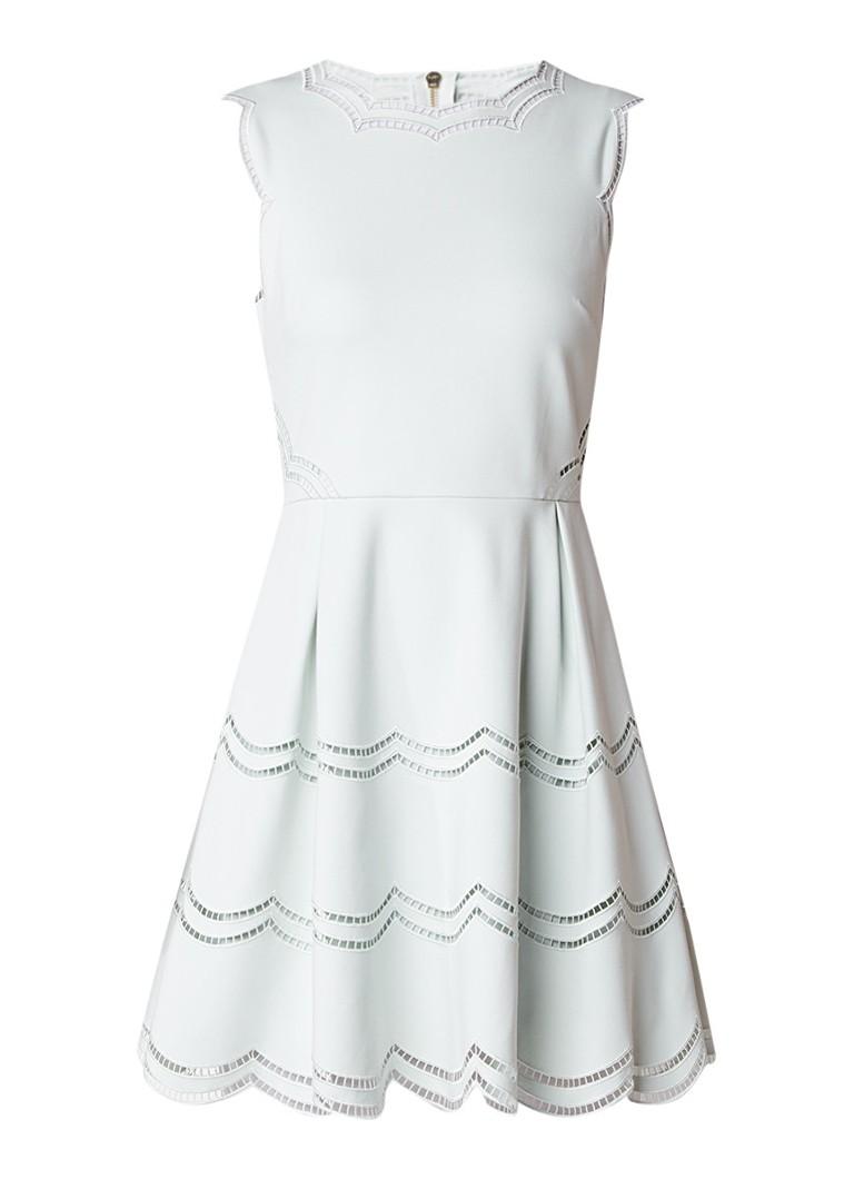 Ted Baker Cammey A-lijn jurk met opengewerkt detail mint