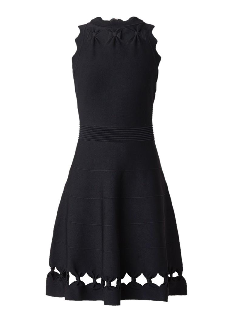 Ted Baker Cherina fjingebreide A-lijn jurk met cut-out zwart