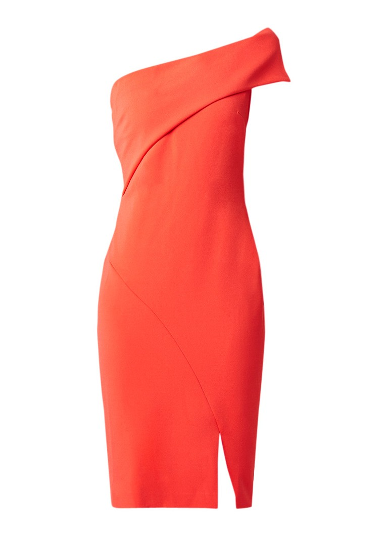 Ted Baker Areena one shoulder jurk met split rood
