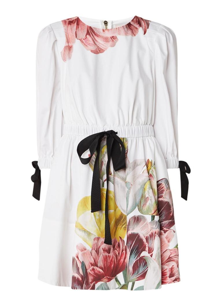 Ted Baker Tuleela A-lijn jurk met bloemendetail wit