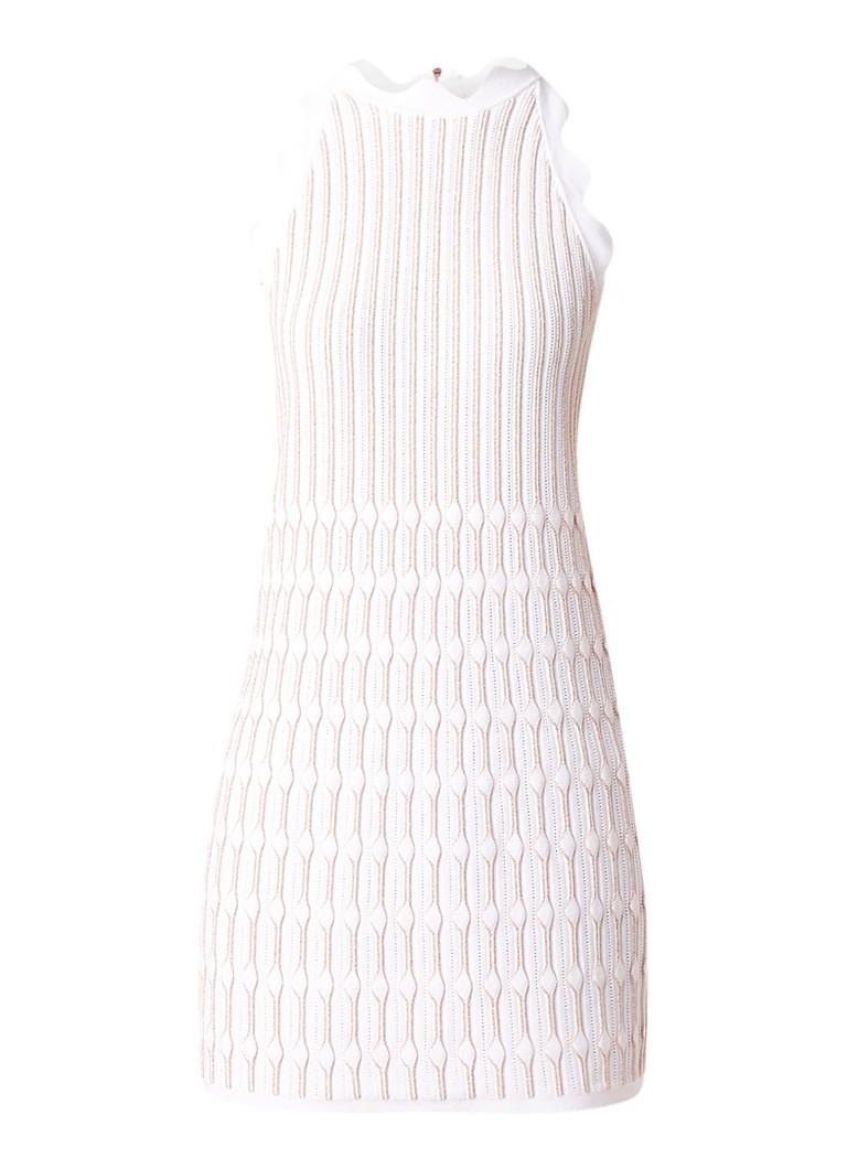 Ted Baker Ommaria fijngebreide mouwloze jurk met lurex detail lichtroze