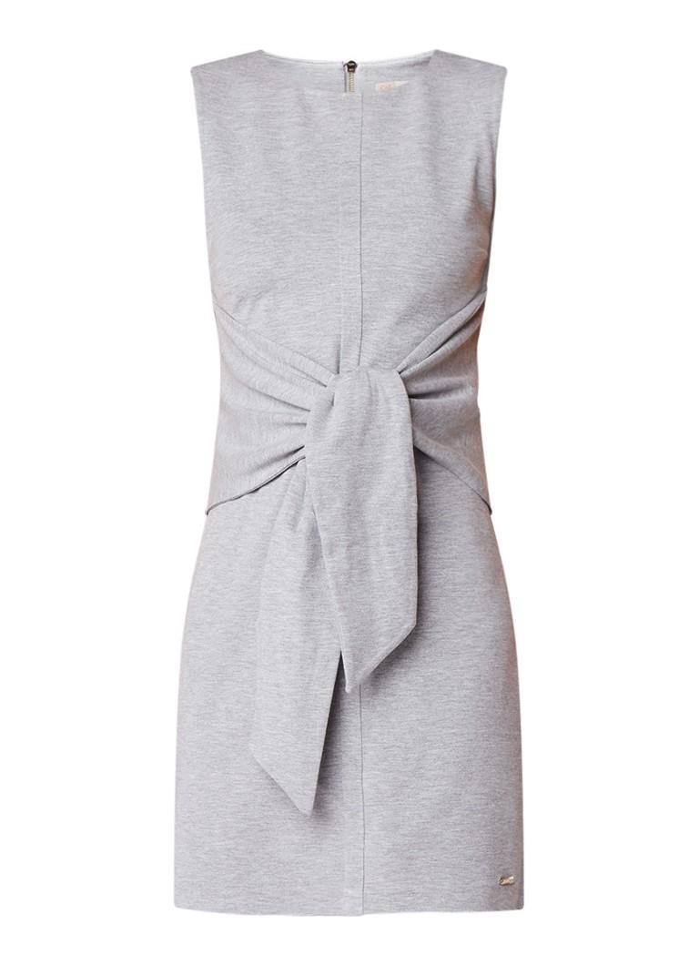 Ted Baker Gemêleerde midi-jurk van stretchjersey met strikdetail grijsmele