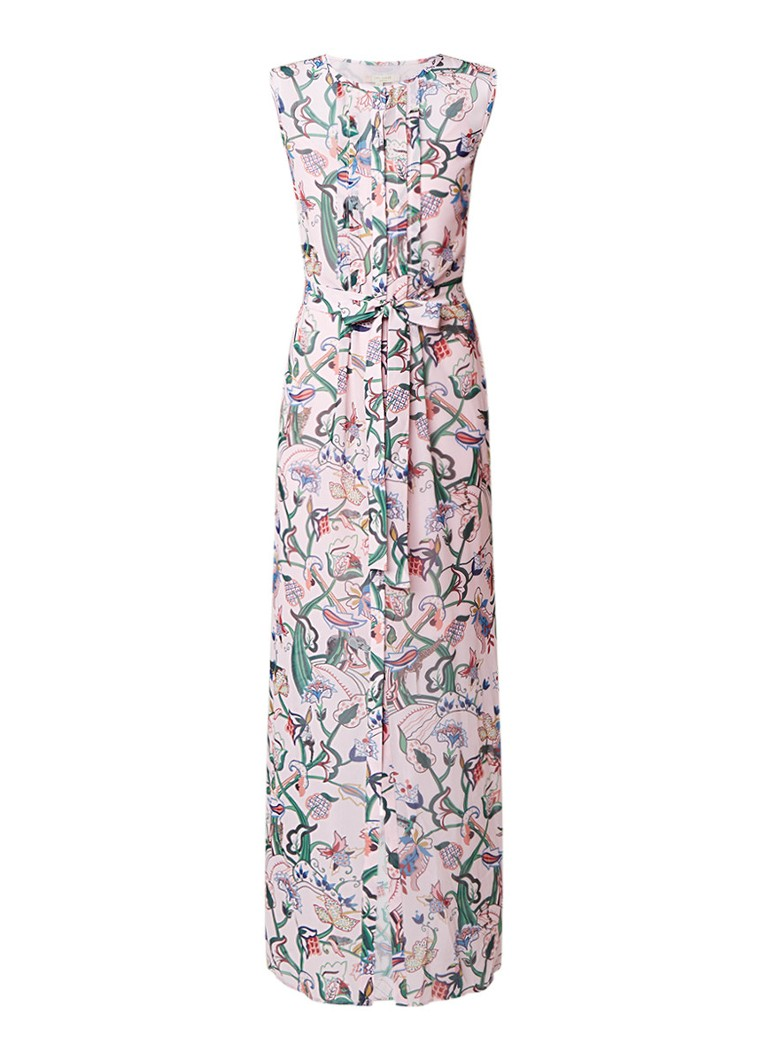 Ted Baker Maxi-jurk van chiffon met bloemendessin roze