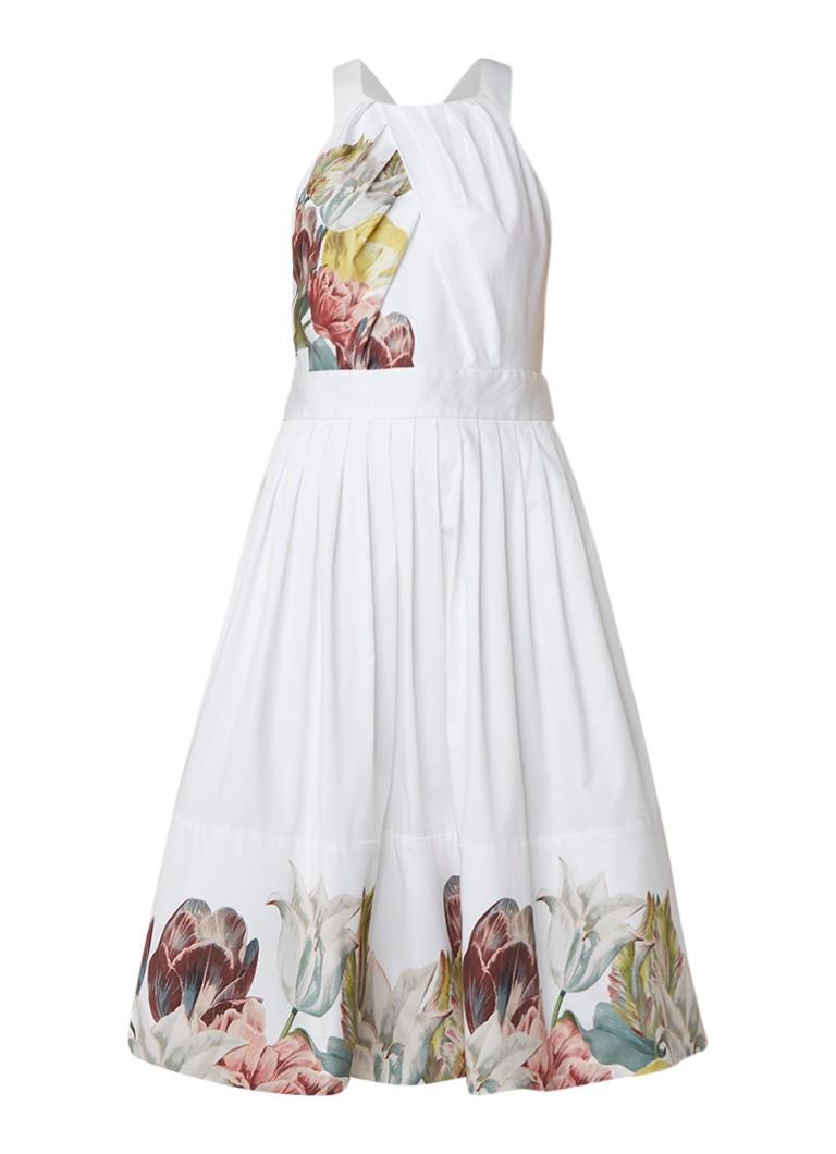 Ted Baker Tranquility A-lijn jurk met bloemendessin wit