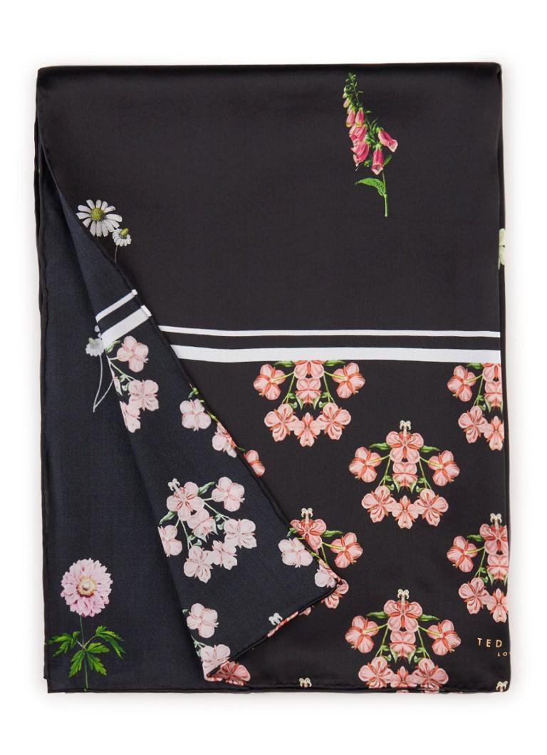 Ted Baker Florence sjaal van zijde met bloemendessin 180 x 65 cm