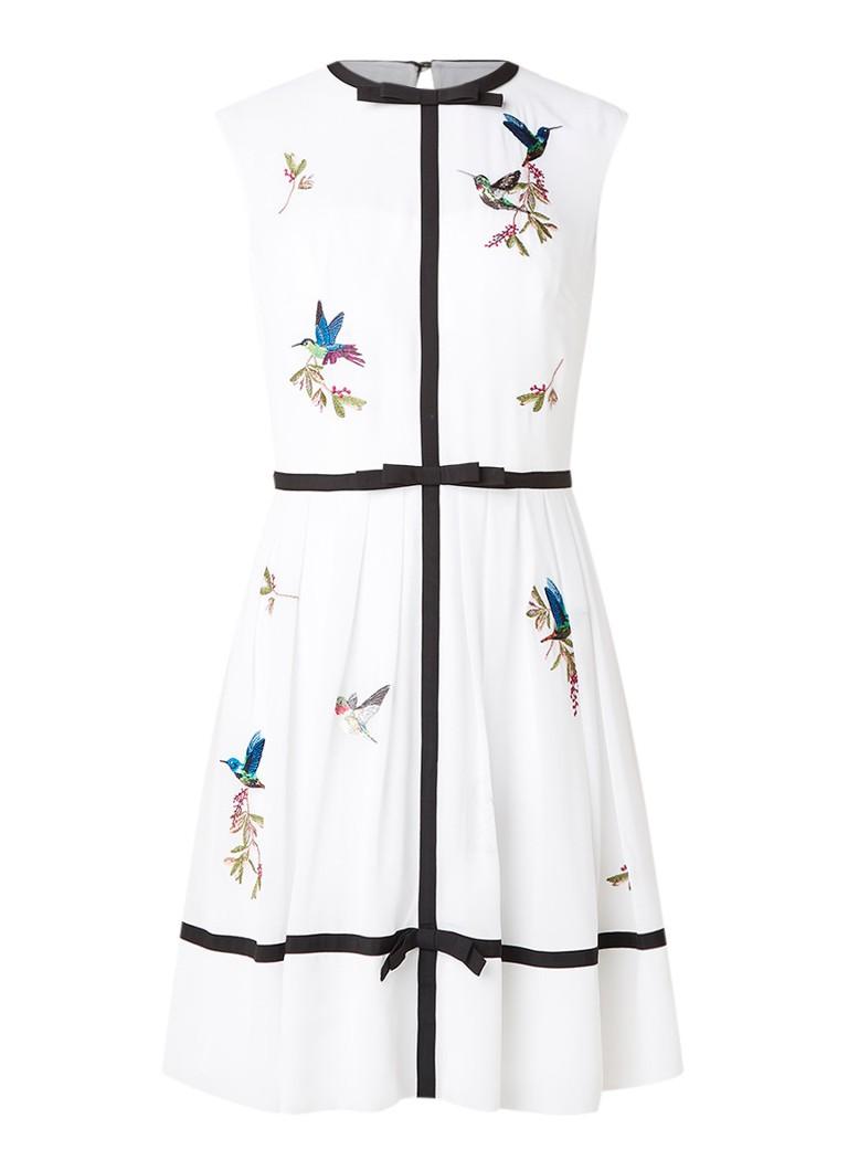 Ted Baker Iina A-lijn jurk met borduring wit