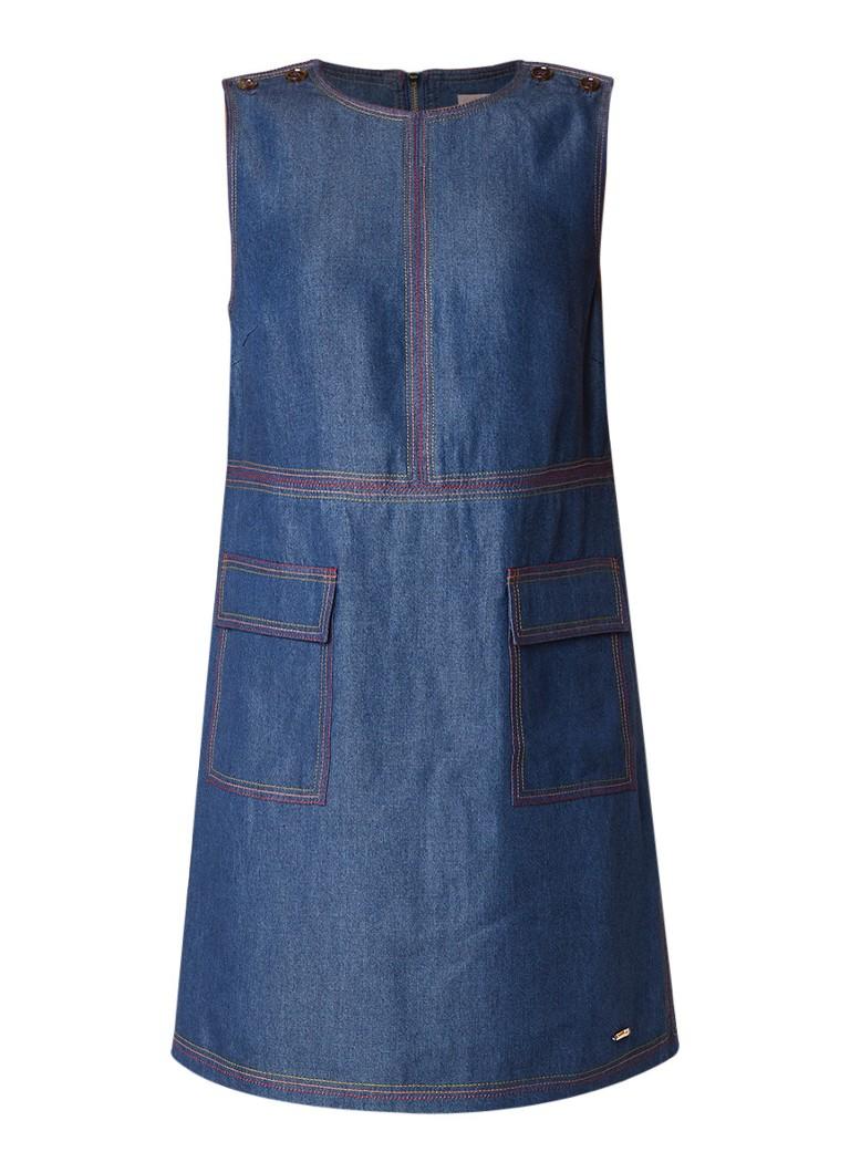 Ted Baker Odie mouwloze jurk van chambray indigo