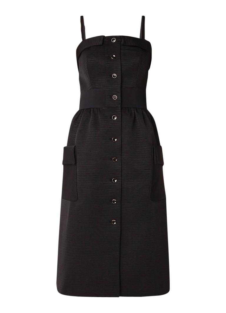 Ted Baker Octovia midi-jurk met spaghettibandjes en structuur zwart