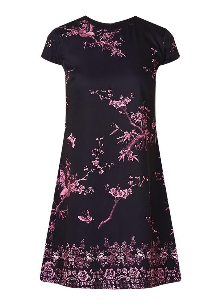 Ted Baker Taluula A-lijn jurk met inzet van plissé zwart