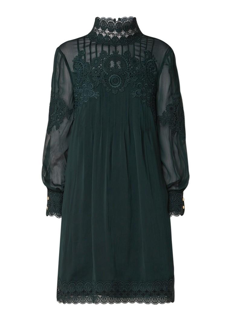 Ted Baker Anneah A-lijn jurk met kant donkergroen