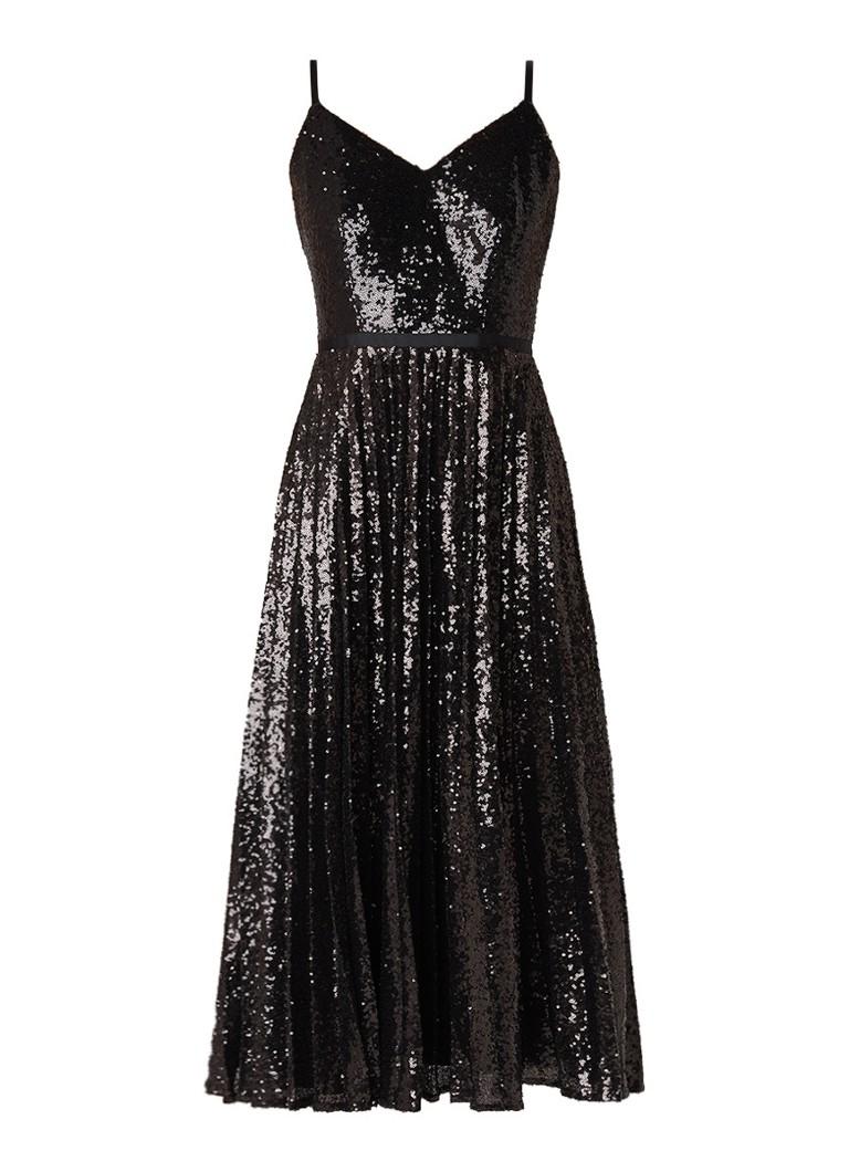 Ted Baker Etta midi-jurk met geplisseerde rok en pailletten zwart
