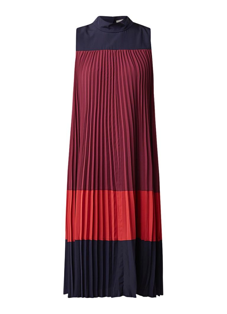 Ted Baker Lorrna geplisseerde A-lijn jurk met colour blocking multicolor