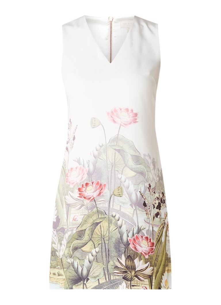 Ted Baker Staycy mini-jurk met bloemendessin wit