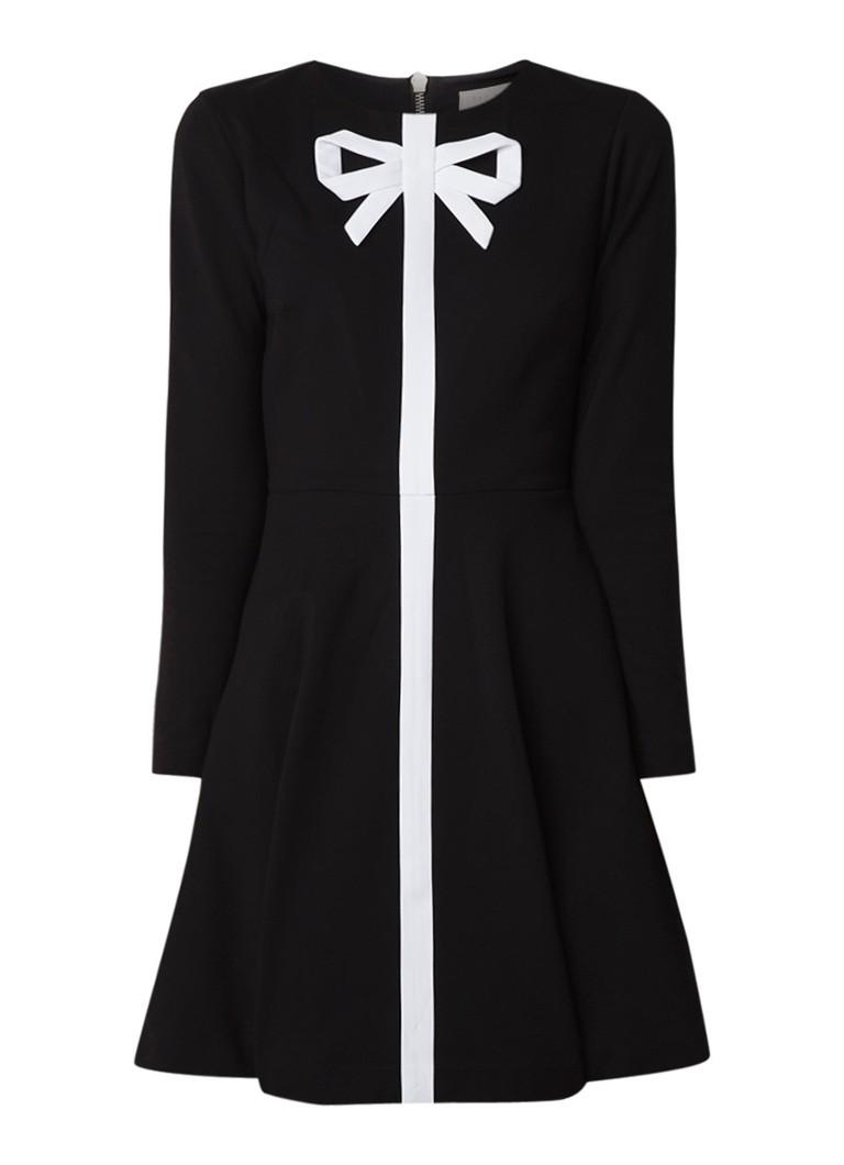 Ted Baker Gilleen A-lijn jurk met strikdetail zwart