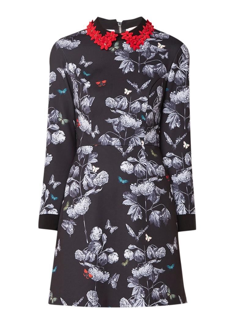 Ted Baker Narrnia mini-jurk van jersey met bloemendessin zwart