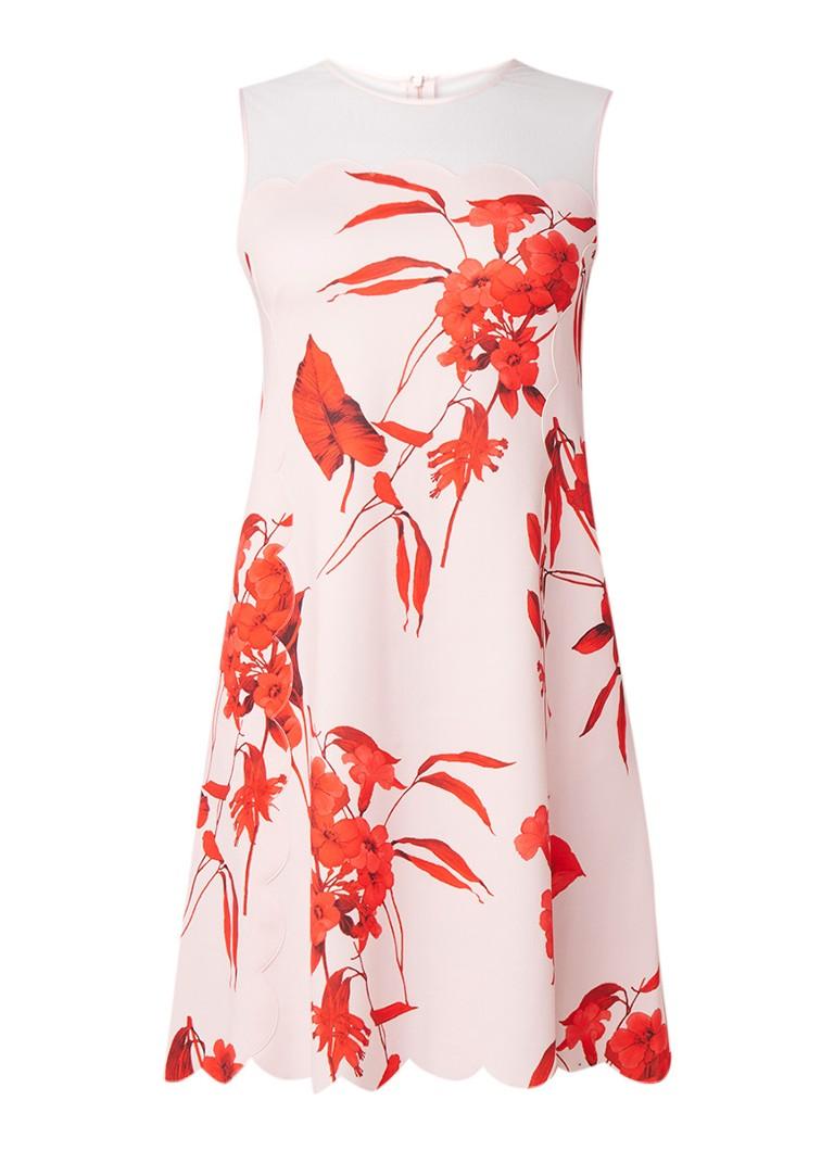 Ted Baker Jaazmin mini-jurk met bloemendessin lichtroze