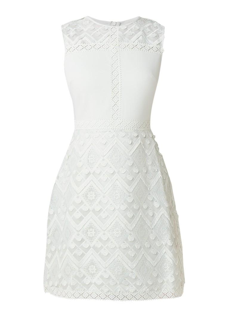 Ted Baker Buttercp A-lijn jurk met details van kant mint