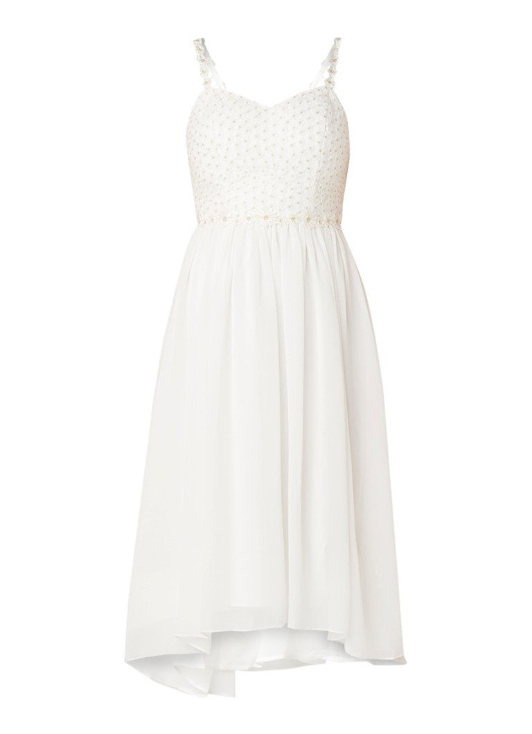 Ted Baker Rosemary Daisy A-lijn jurk met kant wit
