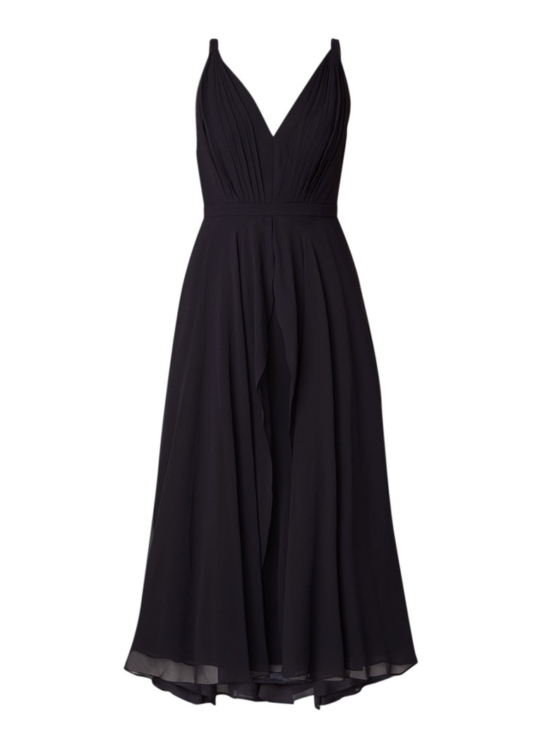 Ted Baker Celeyst midi-jurk van chiffon met plissé donkerblauw