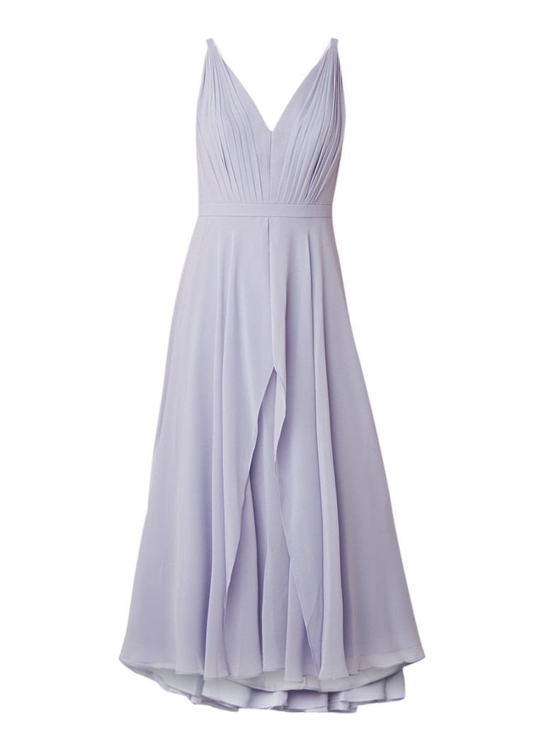 Ted Baker Celeyst midi-jurk van chiffon met plissé lavendel