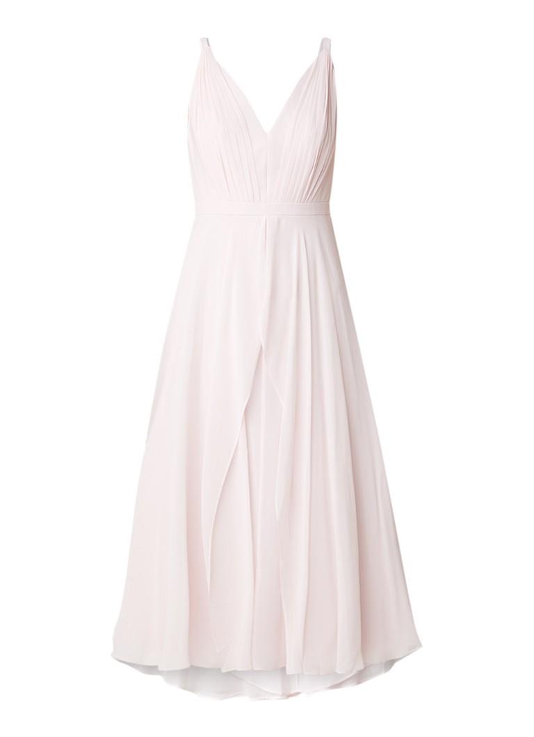 Ted Baker Celeyst midi-jurk van chiffon met plissé lichtroze
