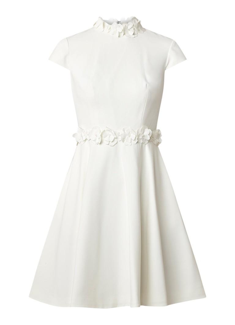 Ted Baker Elianah A-lijn jurk met bloemdetail wit