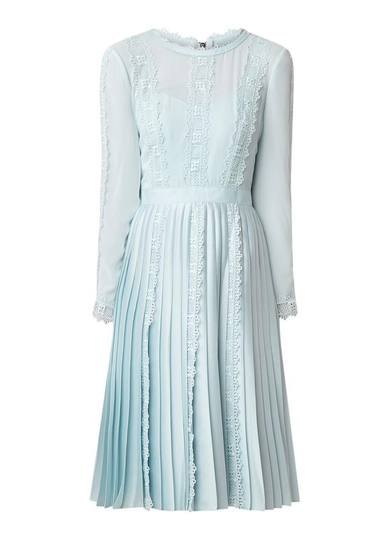 Ted Baker Diannah midi-jurk met details van kant mint
