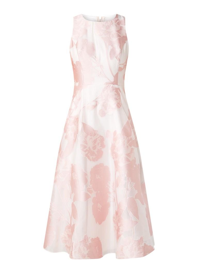 Ted Baker Wylieh A-lijn jurk met bloemendessin lichtroze