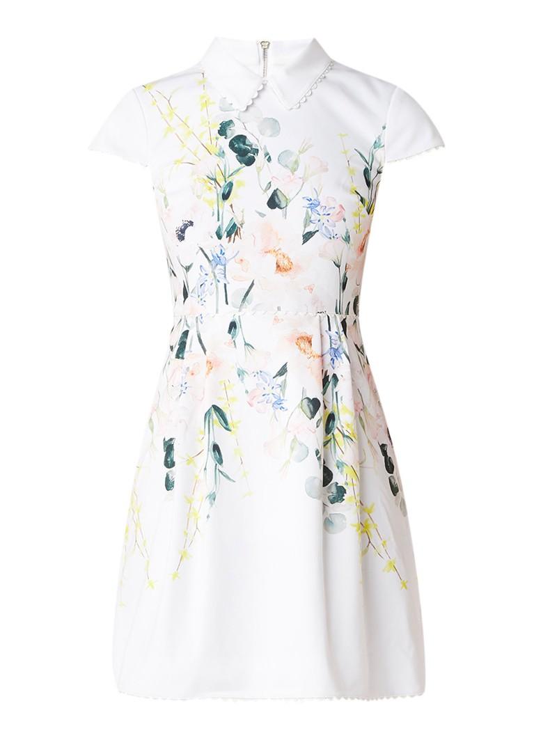 Ted Baker Charsy mini A-lijn jurk met bloemendessin wit