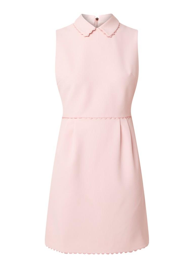Ted Baker Mouwloze A-lijn jurk met kraag lichtroze
