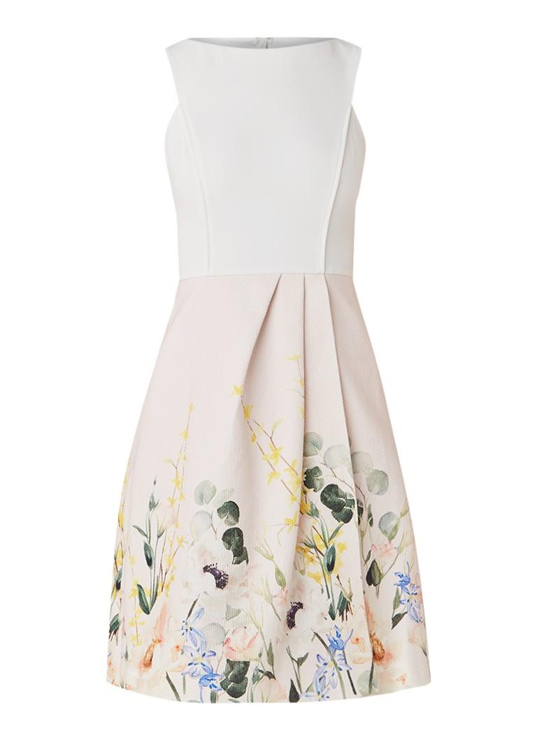 Ted Baker Kalla mouwloze A-lijn jurk met bloemendessin lichtroze