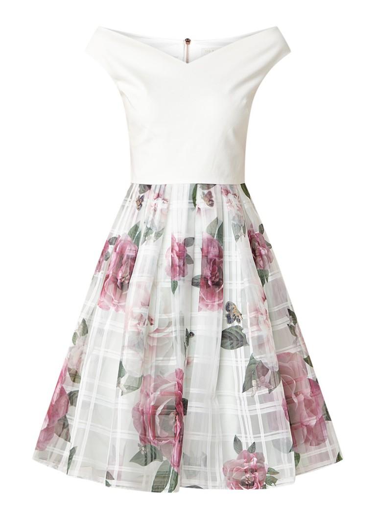 Ted Baker Licious A-lijn jurk met bloemendessin mint