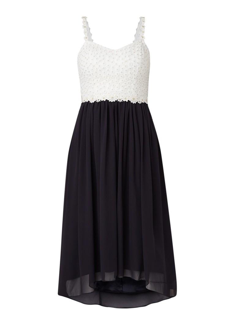 Ted Baker Rosemary Daisy A-lijn jurk met kant donkerblauw