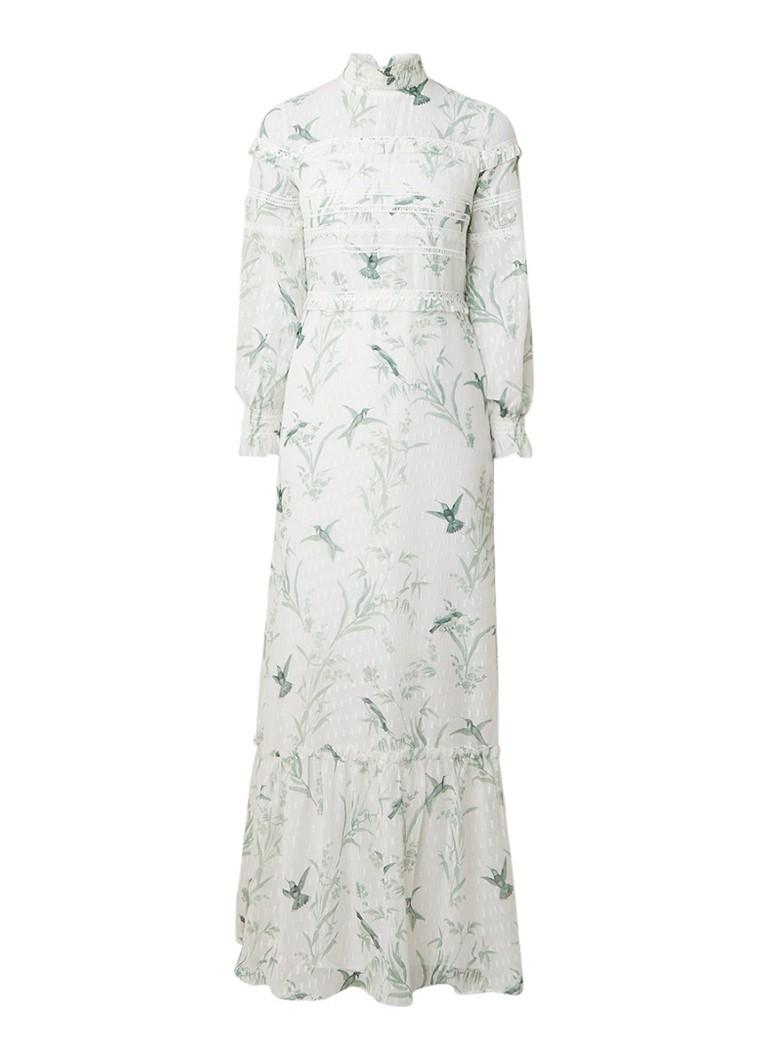 Ted Baker Hariet maxi-jurk met detail van kant en lurex gebroken wit