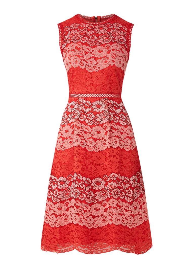 Ted Baker Inarra A-lijn jurk van gebloemd guipure kant roze