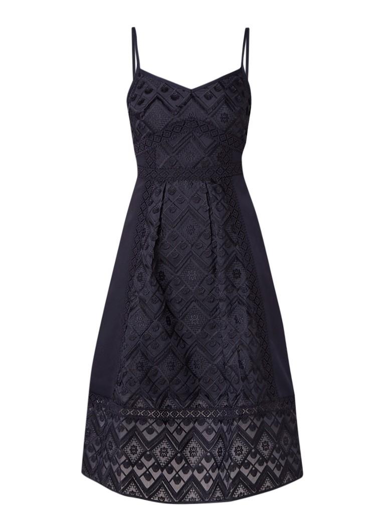 Ted Baker Leeo midi-jurk met details van kant donkerblauw
