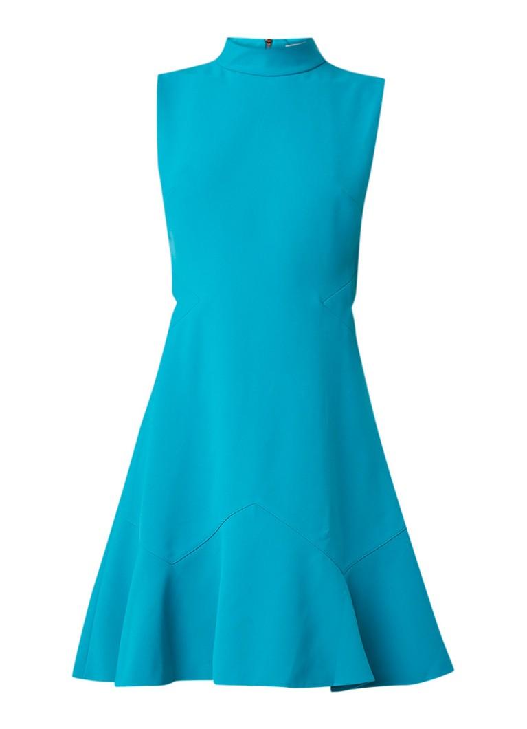 Ted Baker Cormier A-lijn jurk met volant turquoise