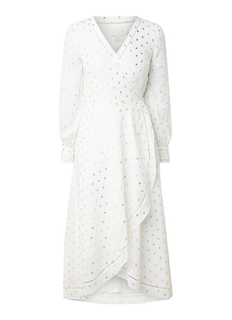 Ted Baker Hevenly maxi-jurk met opengewerkte details wit